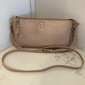 Tory Burch Pink Leather Cross Body Bag